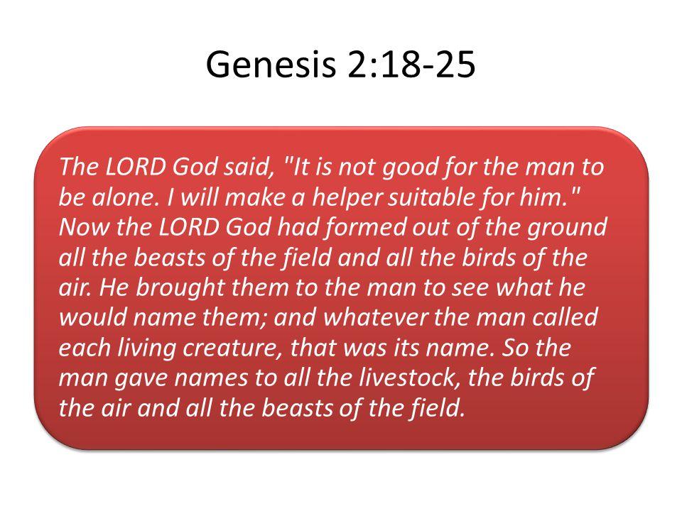 Genesis 2:18-25