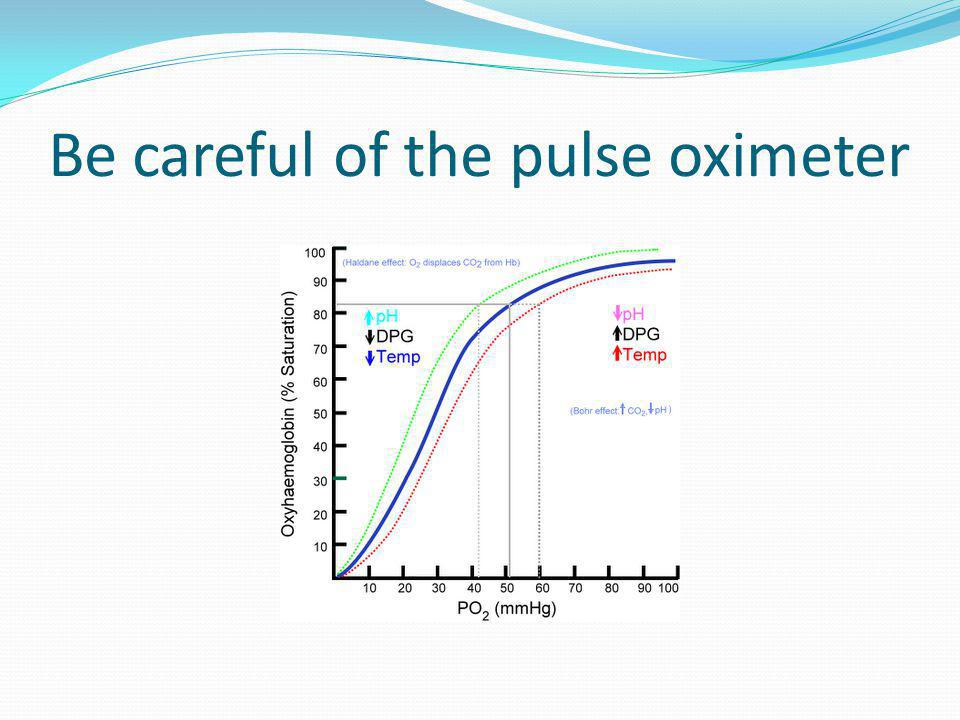 Be careful of the pulse oximeter