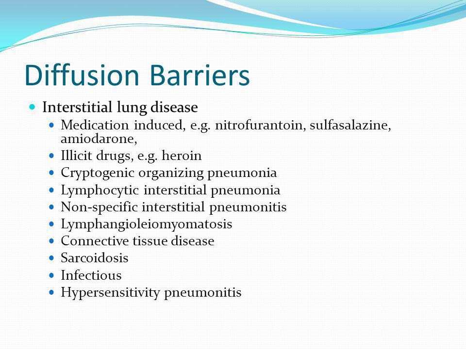 Diffusion Barriers Interstitial lung disease