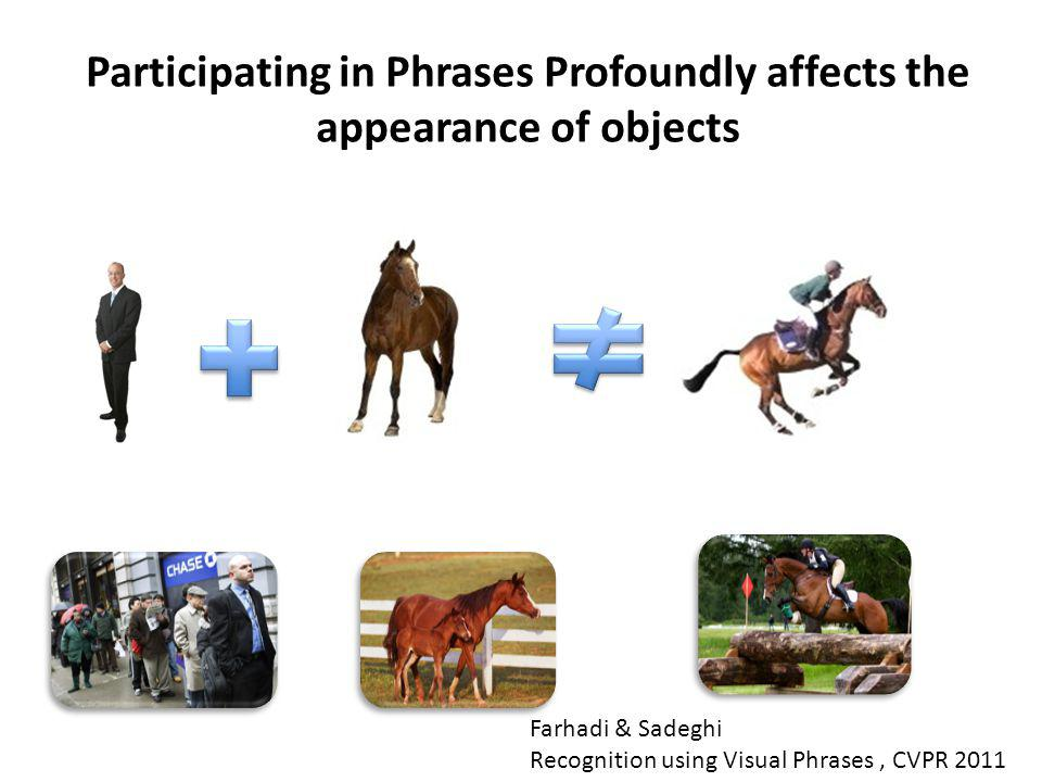 Participating in Phrases Profoundly affects the appearance of objects