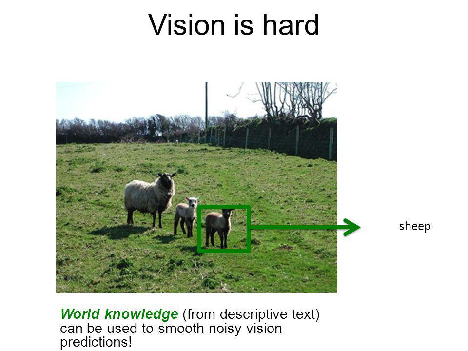 Vision is hard Green sheep.