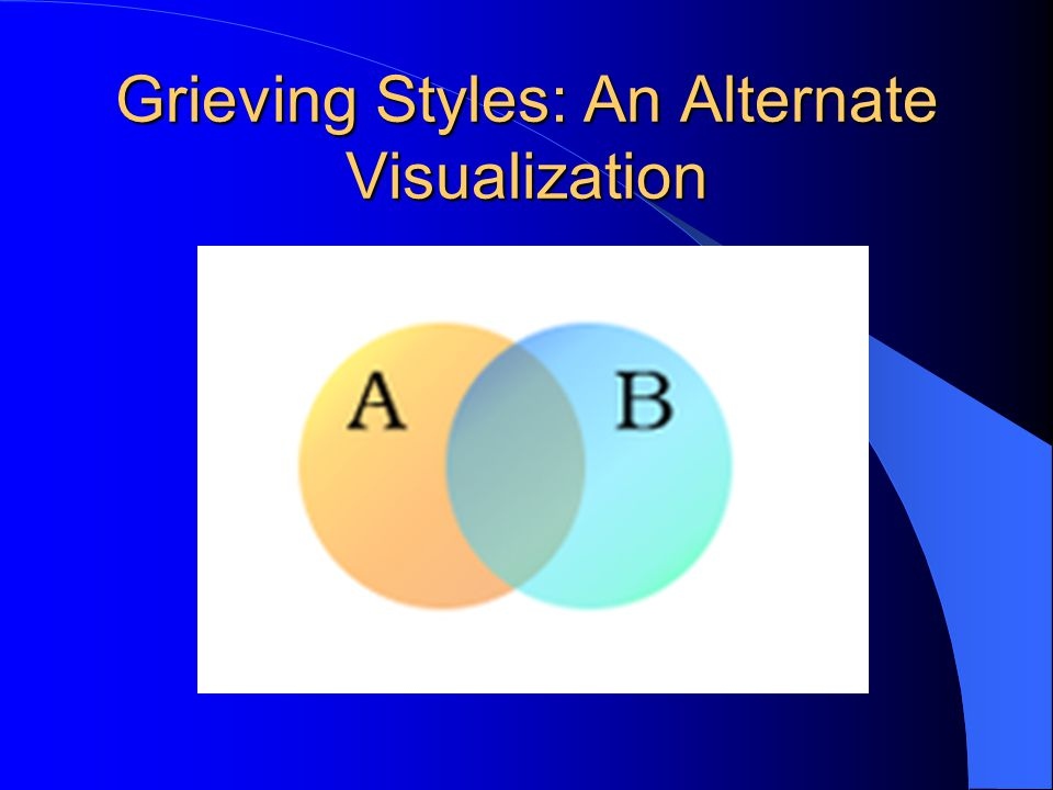 Grieving Styles: An Alternate Visualization