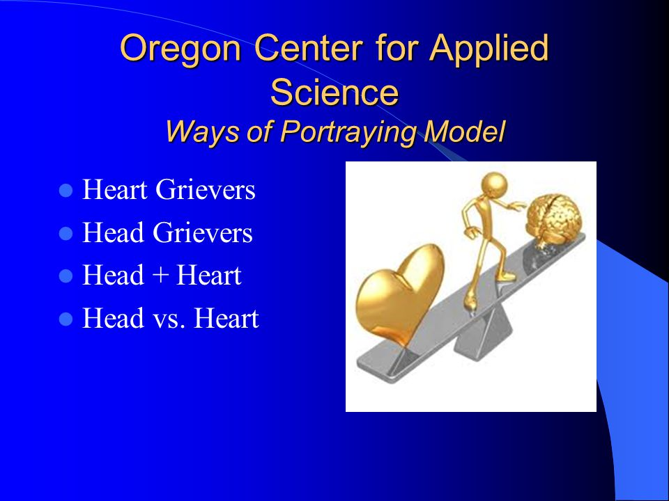 Oregon Center for Applied Science Ways of Portraying Model