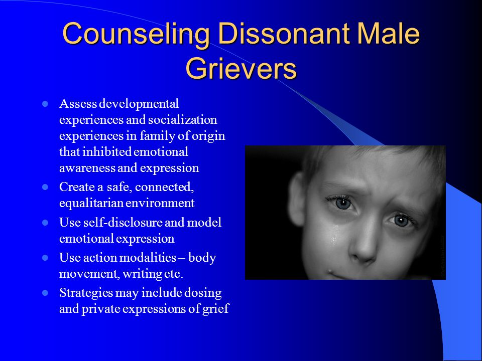Counseling Dissonant Male Grievers