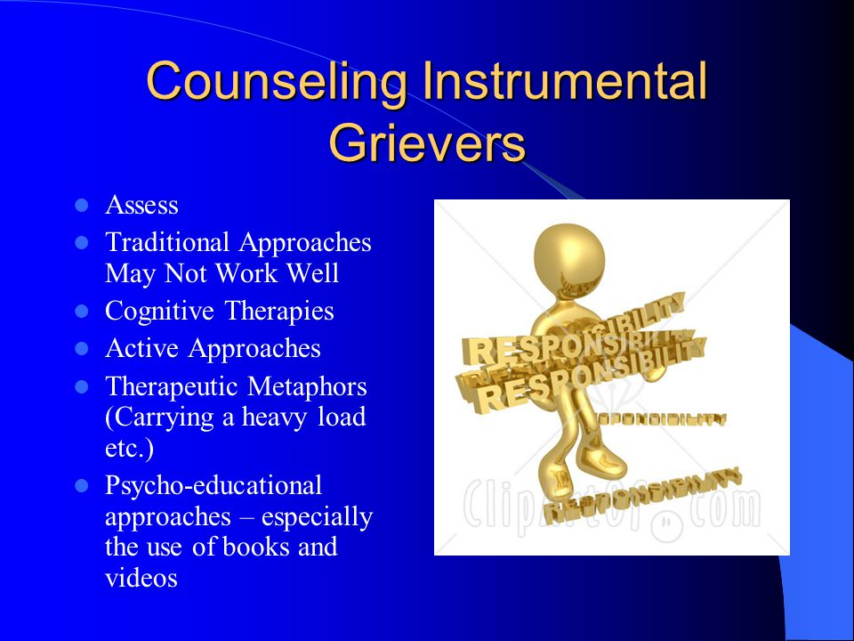 Counseling Instrumental Grievers