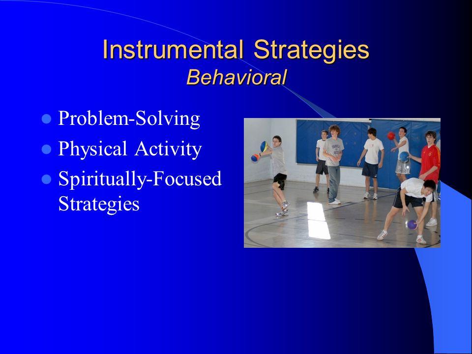 Instrumental Strategies Behavioral