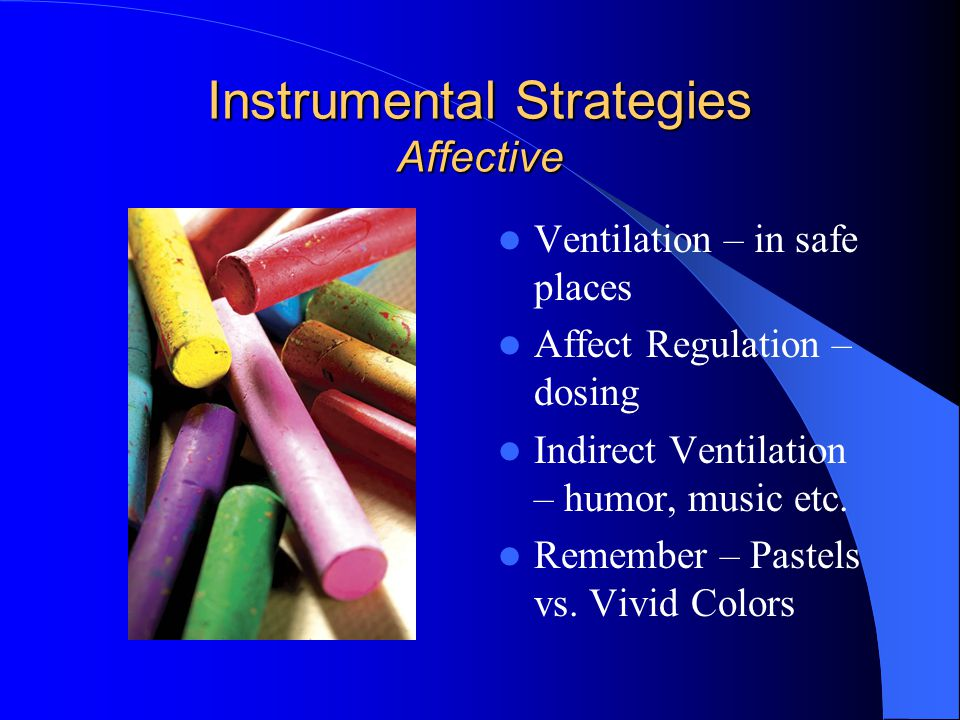 Instrumental Strategies Affective
