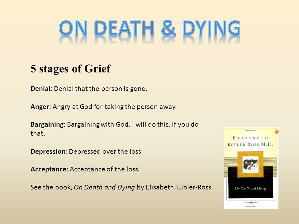 On death & dying 5 stages of Grief