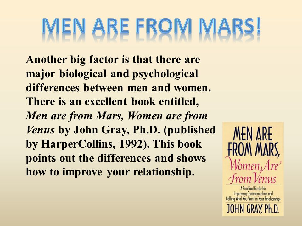 Men are from Mars!