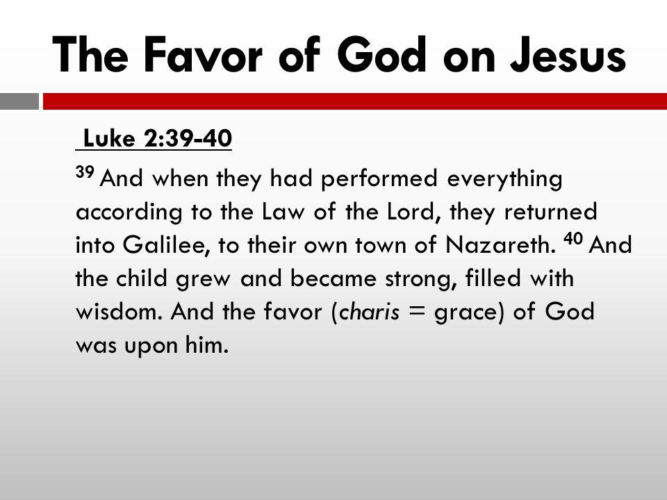 The Favor of God on Jesus