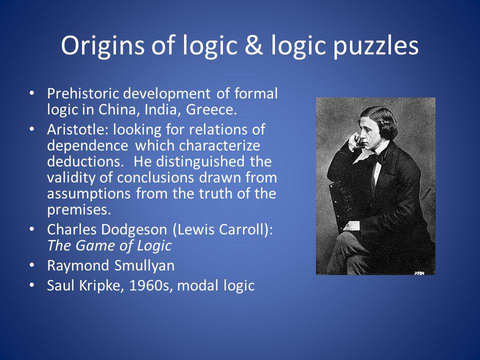 Origins of logic & logic puzzles