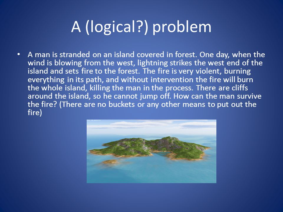 A (logical ) problem