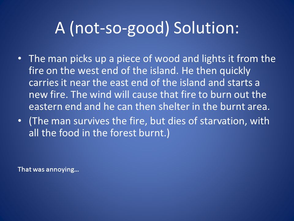 A (not-so-good) Solution: