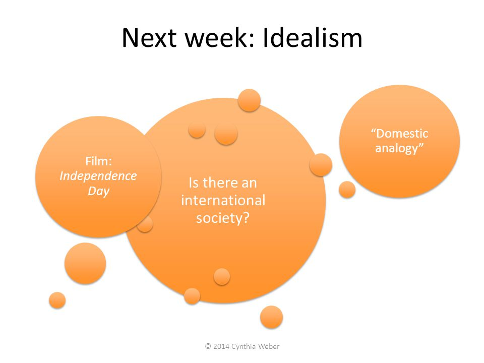 Next week: Idealism Is there an international society