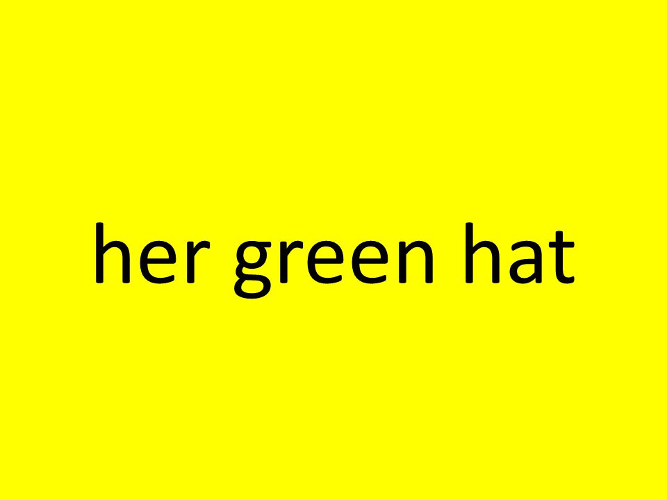 her green hat