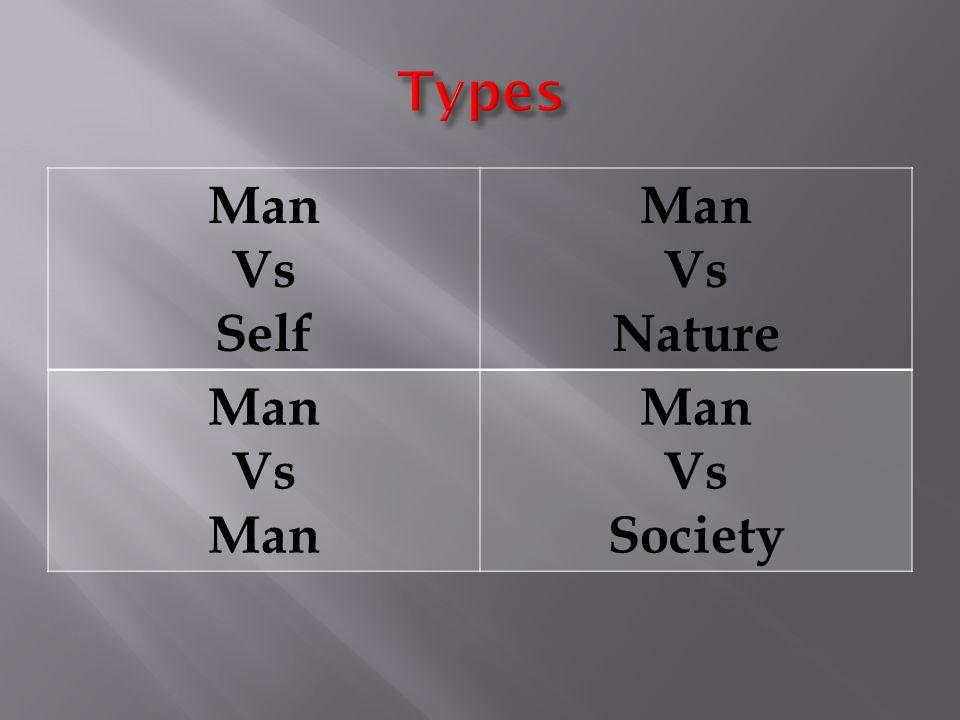 Types Man Vs Self Nature Society