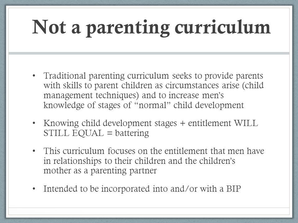 Not a parenting curriculum