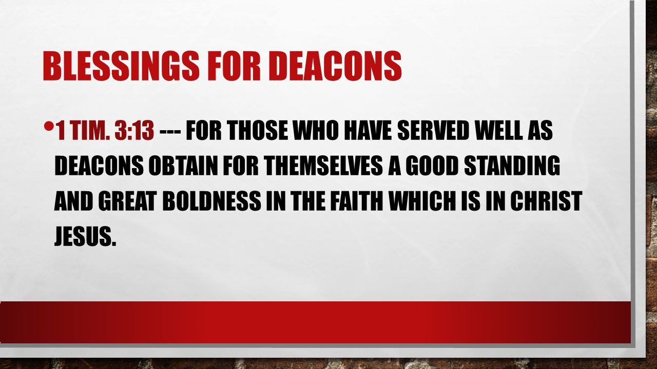 Blessings for deacons