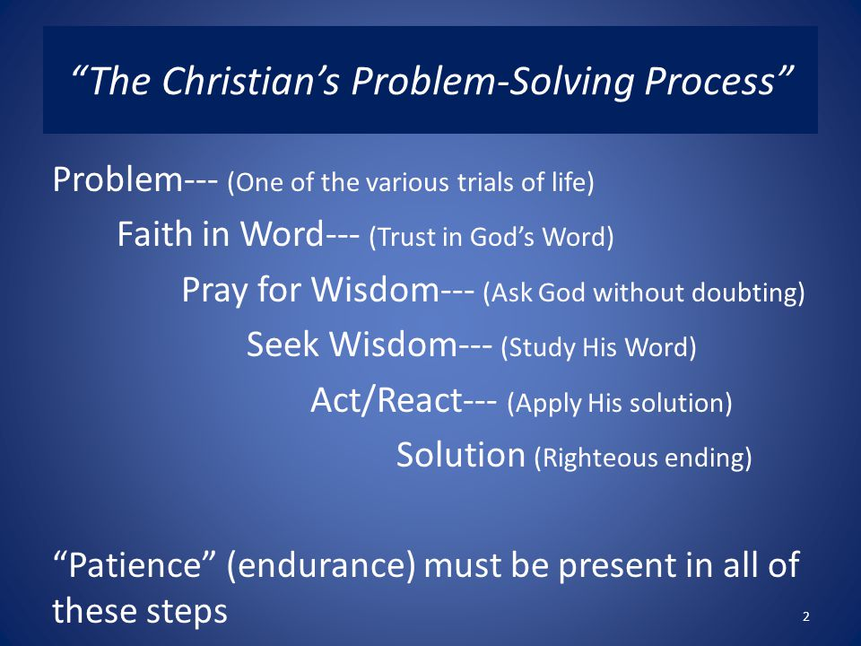The Christian's Problem-Solving Process