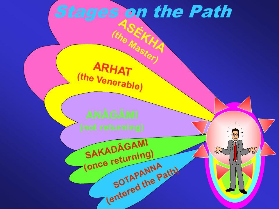 Stages on the Path ASÉKHA ARHAT ANÂGÂMI (the Master) (the Venerable)