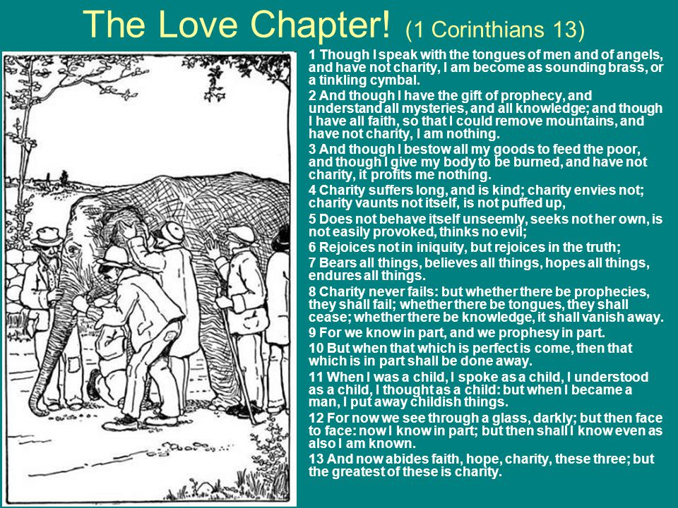 The Love Chapter! (1 Corinthians 13)