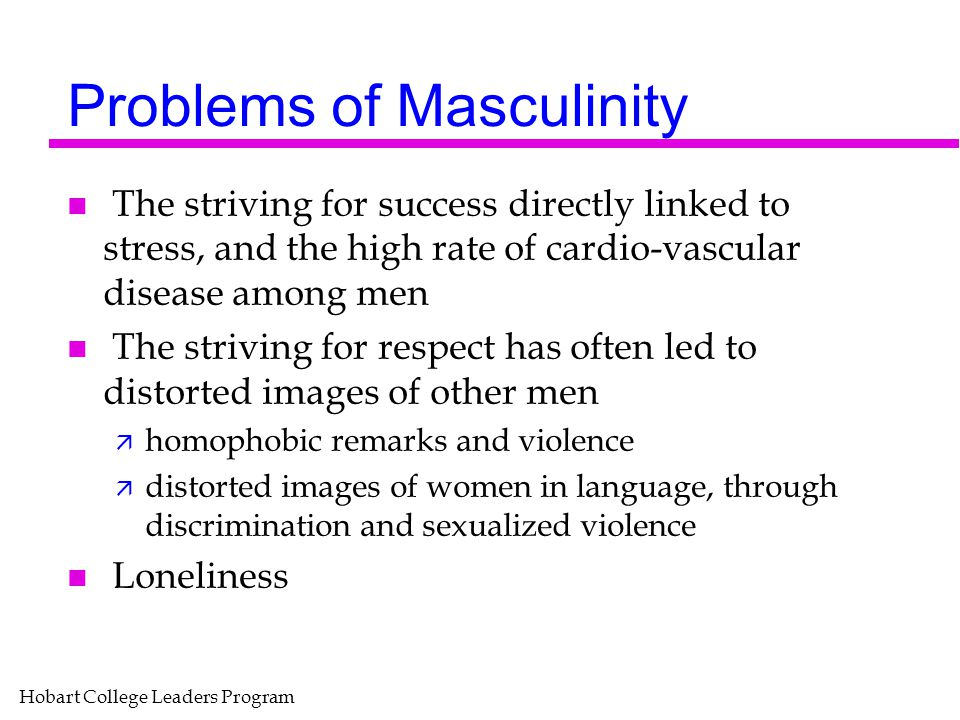 Problems of Masculinity