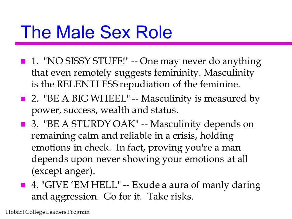 The Male Sex Role