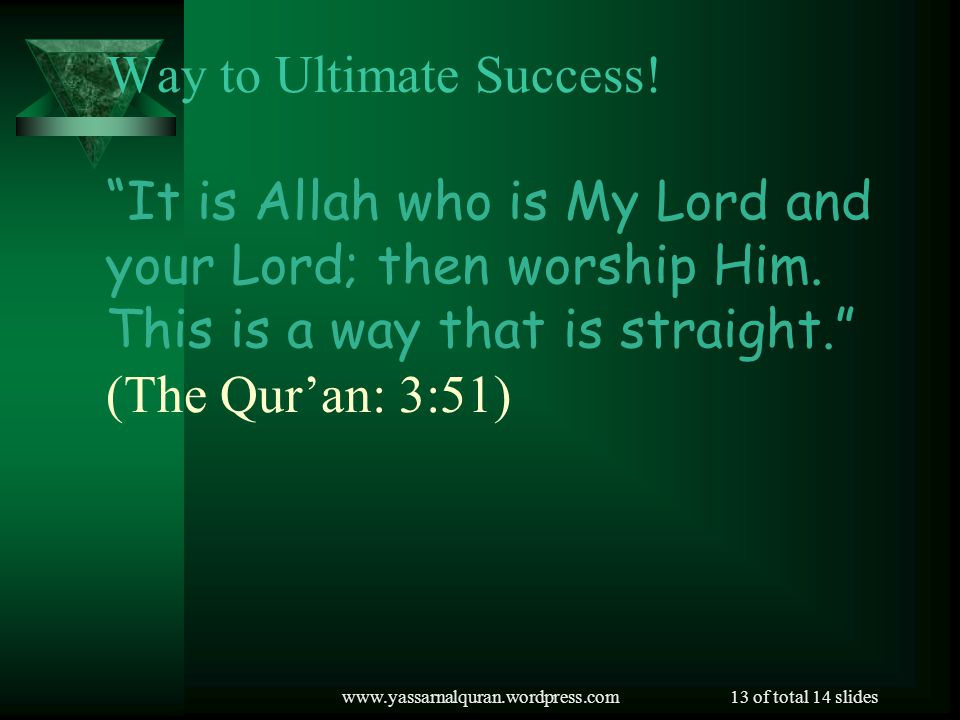 Way to Ultimate Success