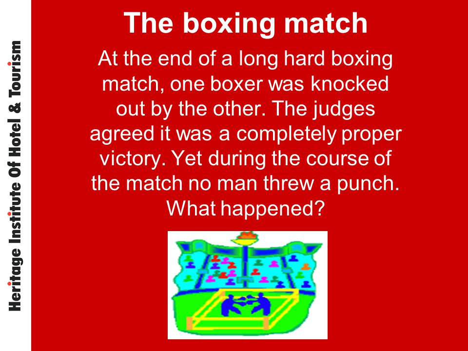 The boxing match