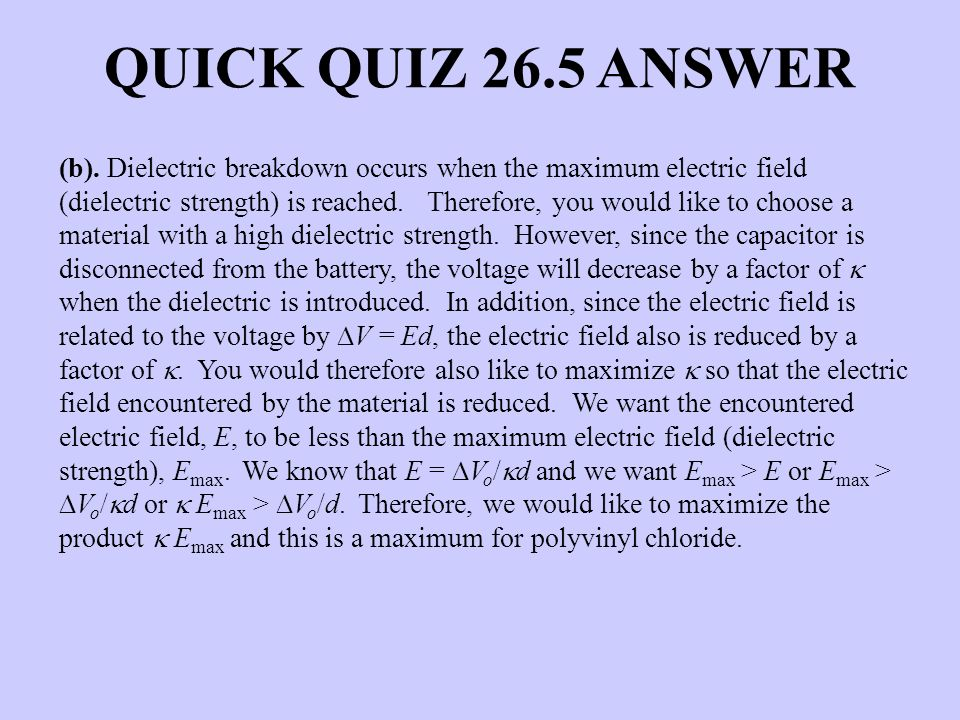 QUICK QUIZ 26.5 ANSWER