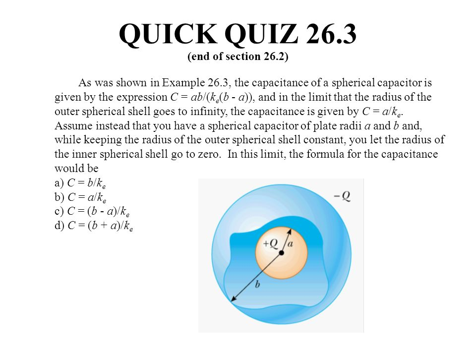 QUICK QUIZ 26.3 (end of section 26.2)