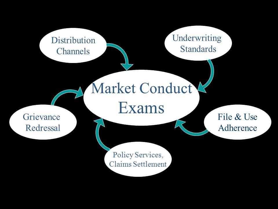 Exams Market Conduct Underwriting Standards Distribution Channels