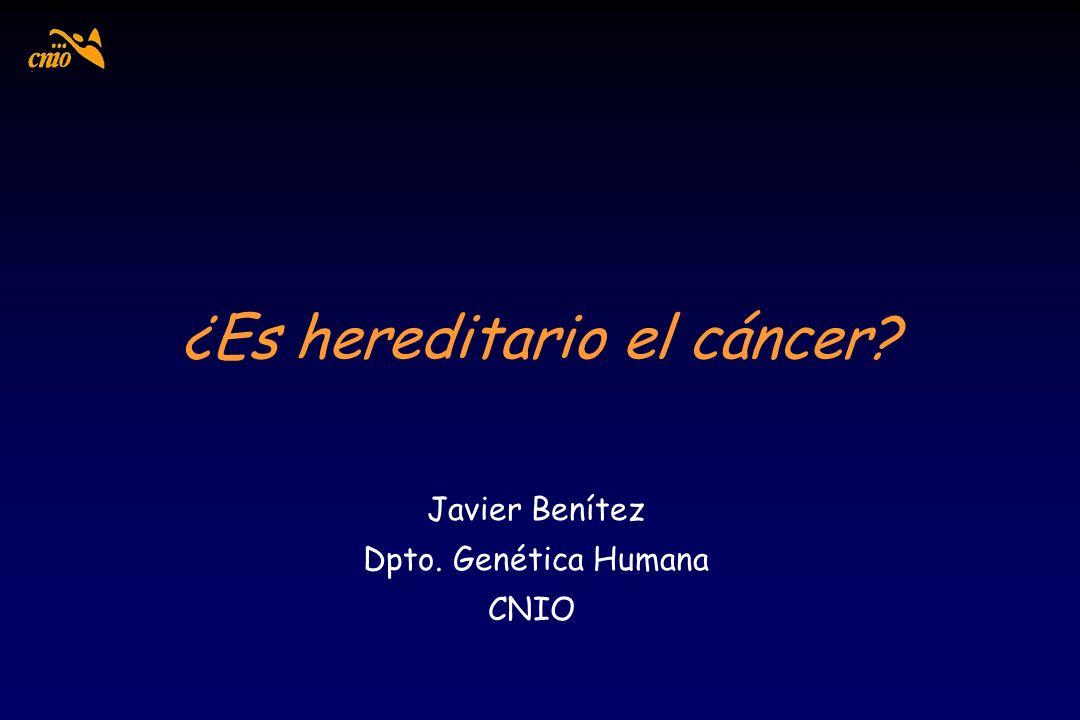¿Es hereditario el cáncer