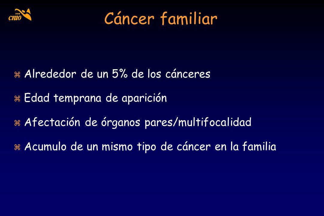 Cáncer familiar Alrededor de un 5% de los cánceres