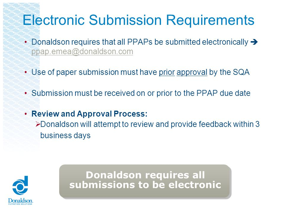 Electronic Submission Requirements