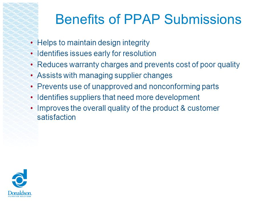 Benefits of PPAP Submissions