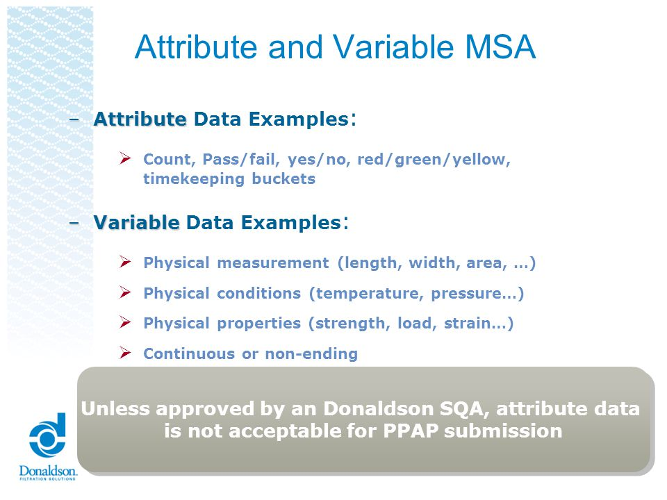 Attribute and Variable MSA