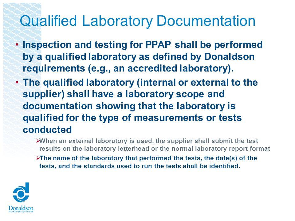 Qualified Laboratory Documentation
