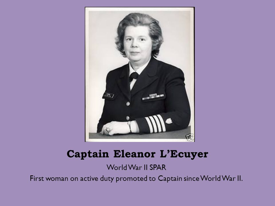 Captain Eleanor L'Ecuyer