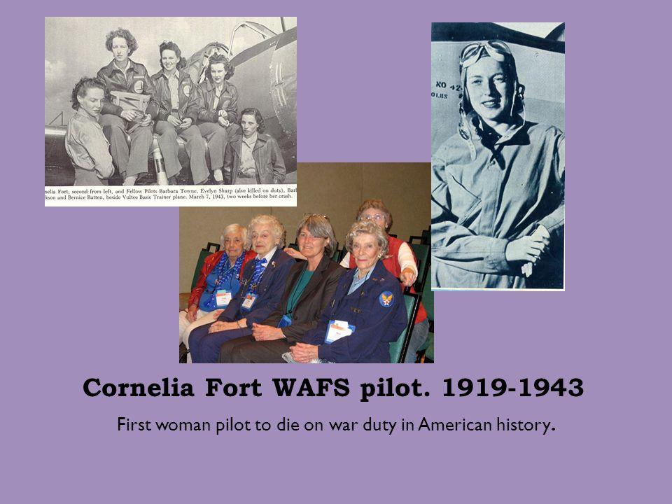 Cornelia Fort WAFS pilot. 1919-1943