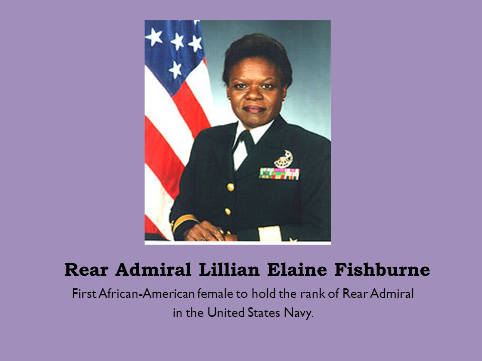 Rear Admiral Lillian Elaine Fishburne
