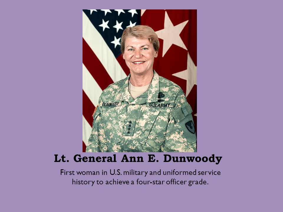 Lt. General Ann E. Dunwoody