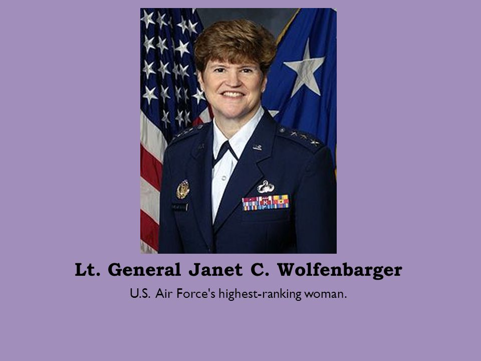 Lt. General Janet C. Wolfenbarger