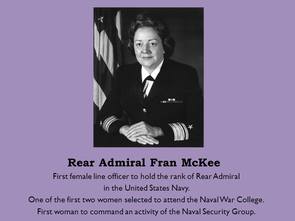Rear Admiral Fran McKee