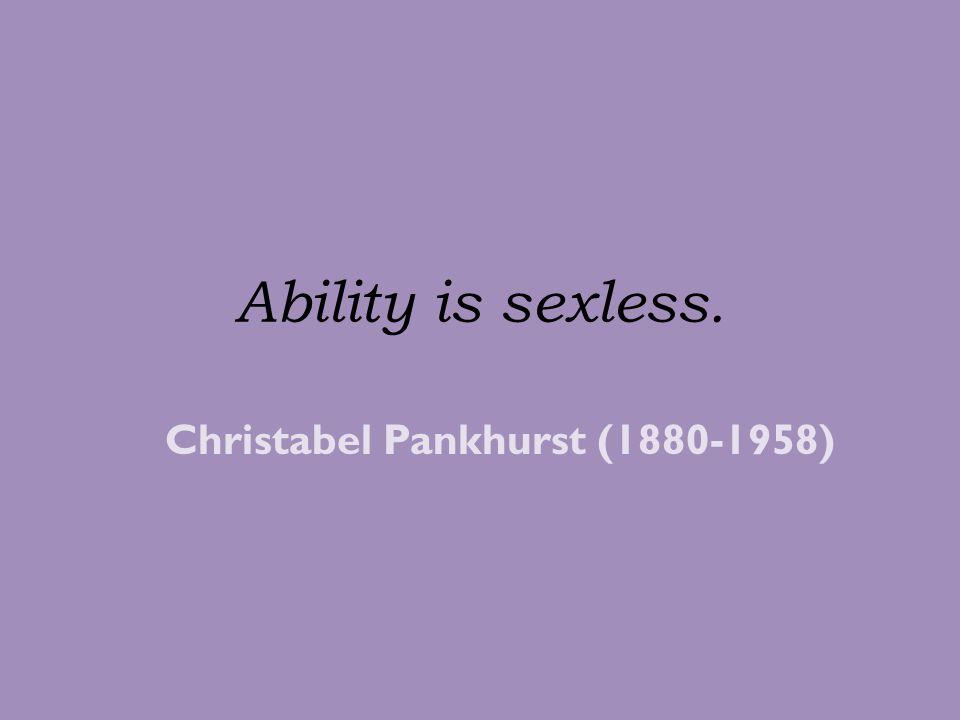 Christabel Pankhurst (1880-1958)