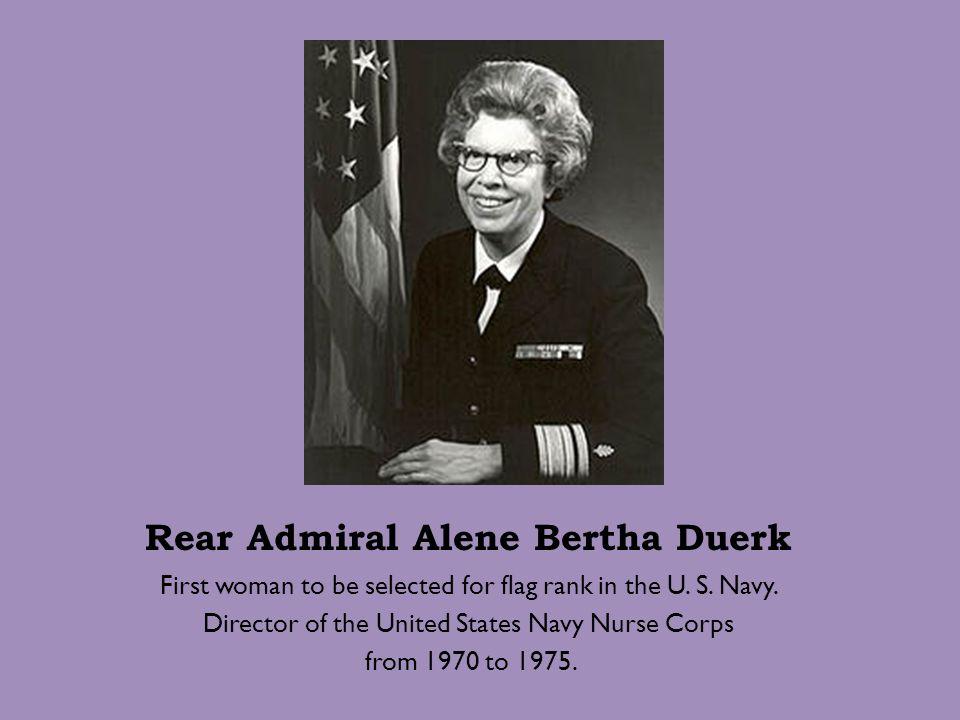 Rear Admiral Alene Bertha Duerk
