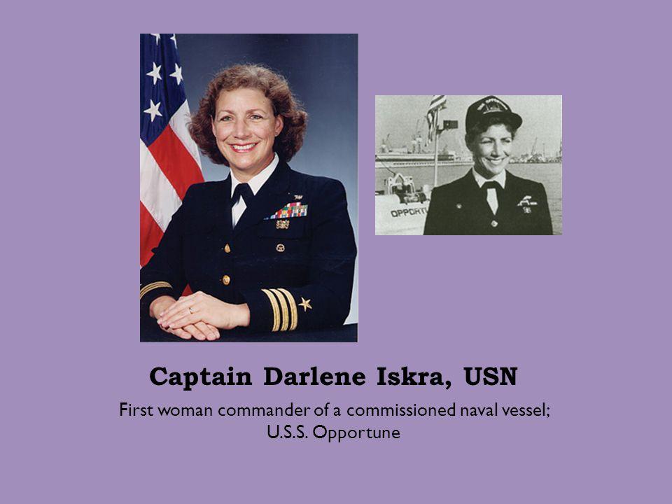 Captain Darlene Iskra, USN