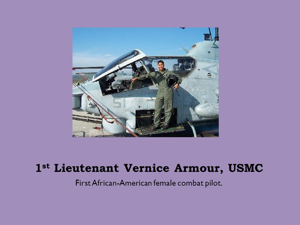 1st Lieutenant Vernice Armour, USMC