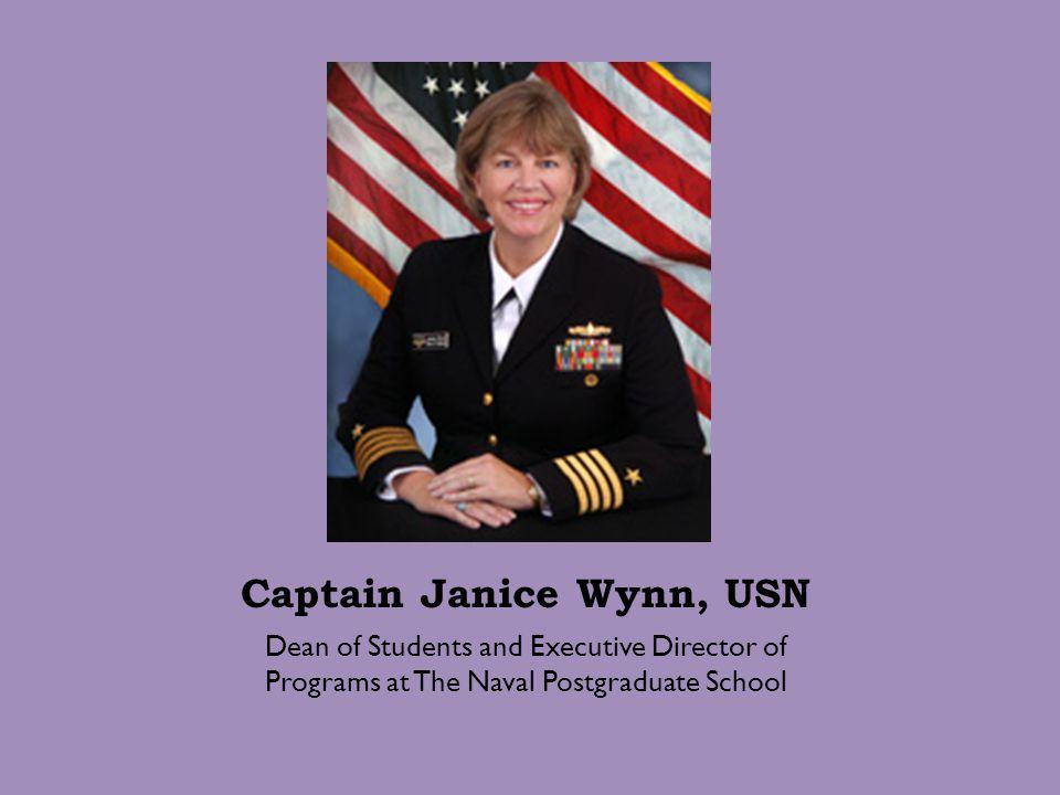 Captain Janice Wynn, USN