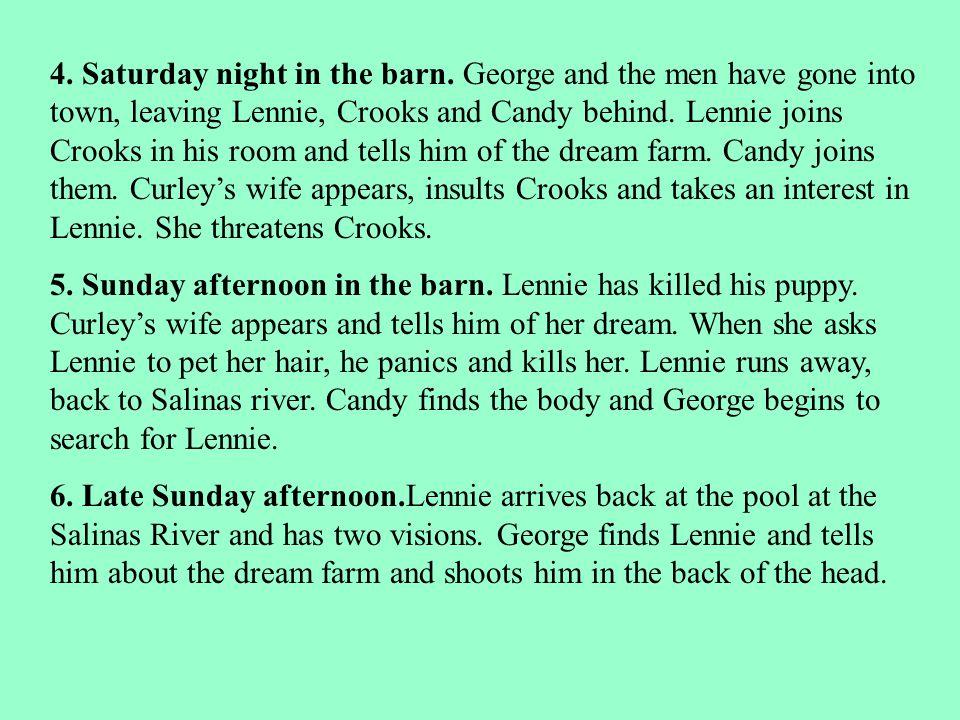 4. Saturday night in the barn